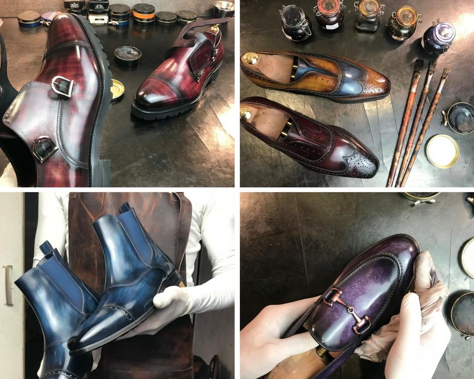 Belles chaussures de mariage patine style italien grande tailleXL XXL bordeaux