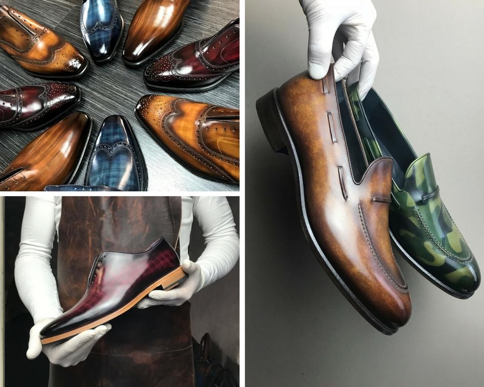 Bon plan pour chaussures de bureau confortable sur mesure style français marron