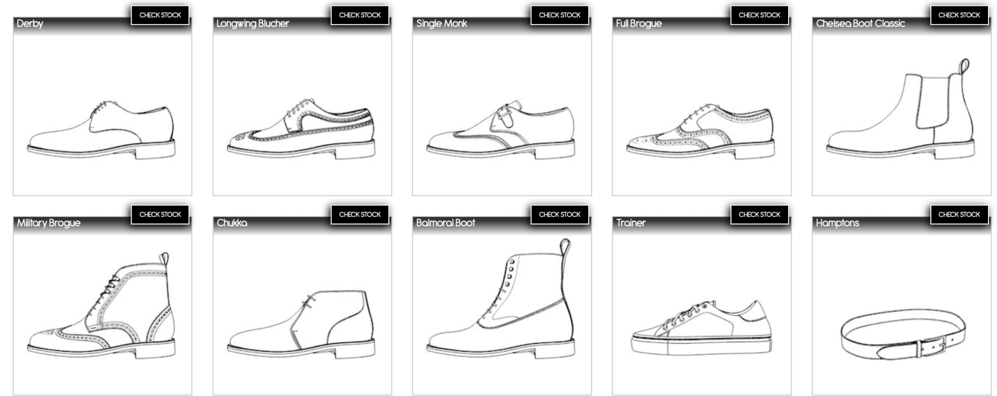 Fastlane: Une production entre 7-10 jours grâce à un nombre limité d'options de personnalisation, les modèles blancs dans la collection.