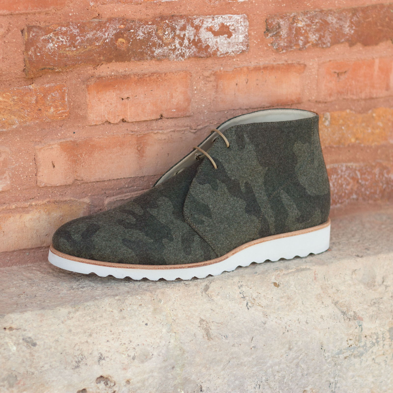 Chukka boots en veau et flanelle