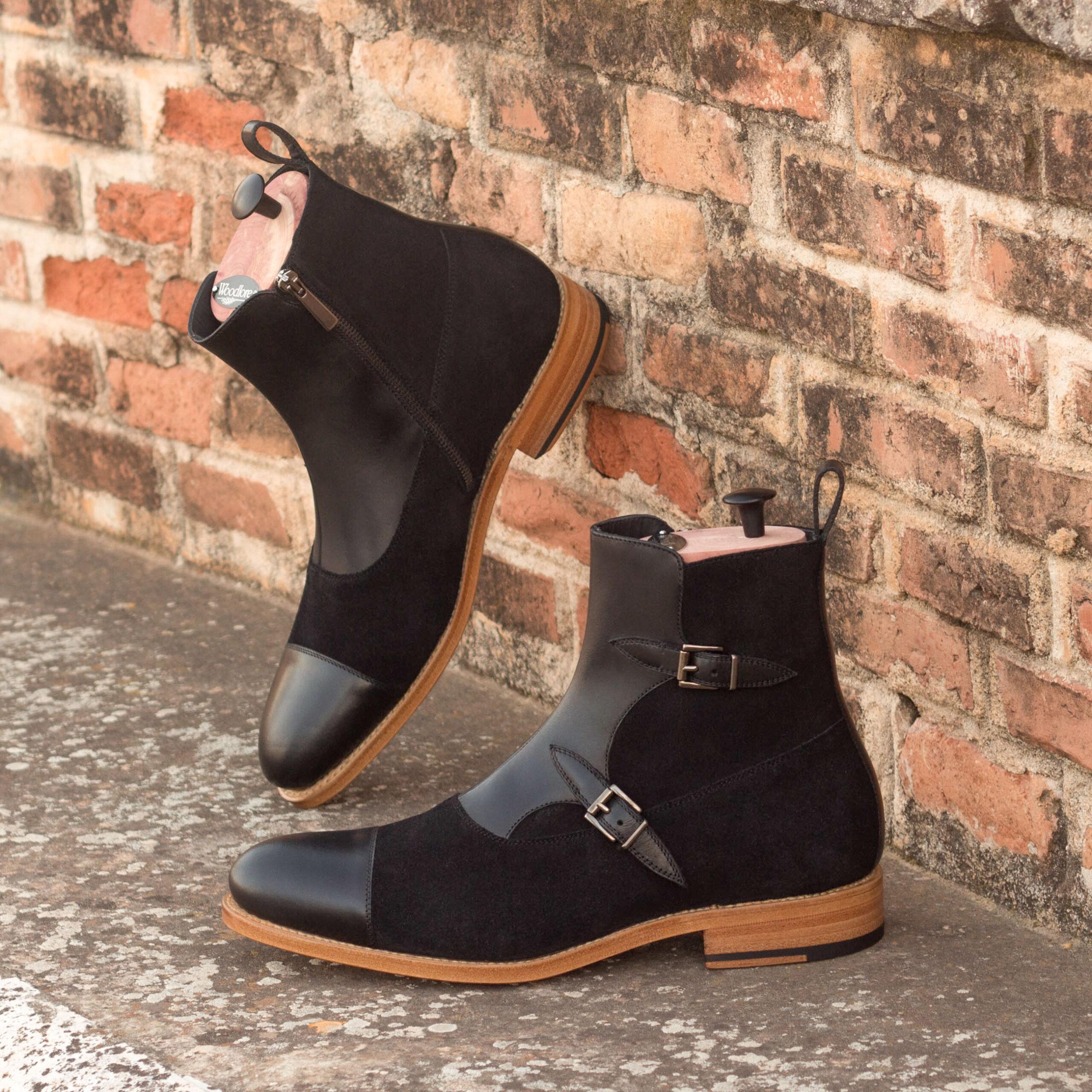 Boots haut de gamme et personnalisées style anglais noir